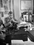 The Duke of Windsor Lighting His Pipe in the Living Room