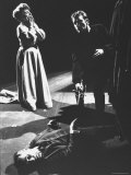 Richard Burton as Hamlet with Sword Poised over the Body of Polonius