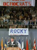 Dem Presidential Candidate Sen Robert F Kennedy Speaking to Kansas State University Students
