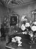 Dress Designer Christian Dior at Home in His Living Room