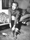 Marlene Dietrich  Preparing to Perform Onstage During USO Show for US Army