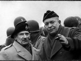 Gen Dwight Eisenhower  Commander in Chief with British Field Commander Gen Bernard Montgomery