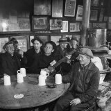 Woody Guthrie Playing and Singing for Patrons of Mcsorley&#39;s Bar
