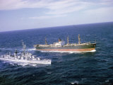 US Navy Picket Ship Vesole  Intercepting Missile Carrying Soviet Ship Potzunov