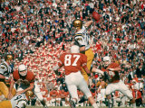 Navy QB Roger Staubach in Action Against University of Texas at the Cotton Bowl