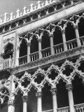Detail of Building Facade in Venice  Italy