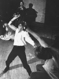 Richard Burton as Hamlet  Slashing at Laertes with His Sword