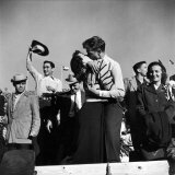Texas University Students Kissing After a Close Football Victory over Southern Methodist University
