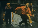 George Chakiris as Bernardo Leads Two Others Into Turf of Rival Gang in West Side Story