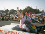 California Republican Gubernatorial Candidate Ronald Reagan  Wife Nancy Waving to Spectators