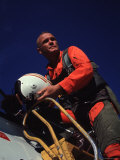 Retiring Astronaut John Glenn in Pilot's Flight Suit  During Visit to El Toro Marine Air Base