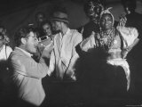 Entertainer Orson Welles Filming the Rio de Janerio Carnival Celebration