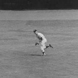 Yankee Mickey Mantle Running for Ball in Field During Baseball Game