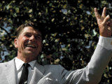 California Republican Gubernatorial Candidate Ronald Reagan on the Campaign Trial
