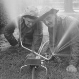William D Egly and Columbus Harris Inventors of the Lawn Master