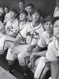 Stan Musial St Louis Cardinals Most Outstanding Player Following Foul Ball from Bench
