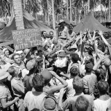 American Servicemen  Celebrating Christmas on Guadalcanal