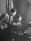 Benjamin Britten Rehearsing with Peter Pears