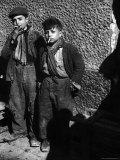 Ragged  Filthy  Poverty Stricken  Street Boys Smoking Cigarettes Begged from American Soldiers