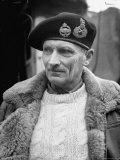 General Bernard L Montgomery  in Command of British 8th Army During Drive Through Italy