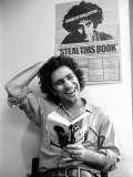 Yippie Leader Abbie Hoffman Holding Copy of His Book