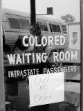 "Freedom Riders: ""Out of Order"" Sign Pasted to Window for Segregated Waiting Room"