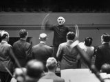 Conductor Arturo Toscanini Conducting Singers from the Metropolitan Opera