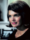 Candid Portrait of Former First Lady Jackie Kennedy in Her Georgetown Living Room