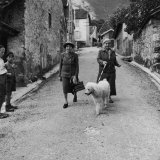 Author Gertrude Stein Walking with Alice B Toklas and Their Dog