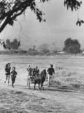 Louie Elias and Family  Riding in Their Pony Cart