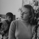 Ingrid Bergman in Pensive Pose while Filming Stromboli