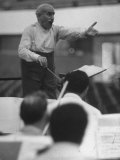 Conductor Arturo Toscanini  Singing and Shouting Instructions While Rehearsing His Men in a Gym