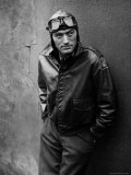 Gregory Peck Costumed as WWII American Air Forces Bomber Pilot for Twelve O&#39;clock High