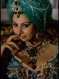 Sophia Loren in Exotic East Indian Costume for Role in Motion Picture Lady L