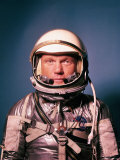 Astronaut John Glenn in a Mercury Program Pressure Suit and Helmet