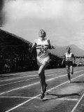 England's Dr Roger Bannister Beating Australia's Mile Record Holder John Landy