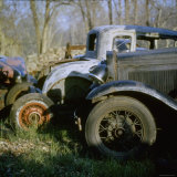 Old Cars in a Junk Yard