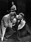 Arthur Kennedy and Lee J Cobb in Scene from Arthur Miller's Death of a Salesman