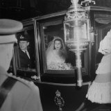 Princess Elizabeth and Prince Philip Leaving Westminster Abbey from Their Royal Wedding