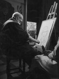 Henri Matisse at His Easel  Drawing from Live Model