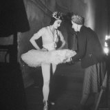 Ballerina Margot Fonteyn Standing in Wings Prepares for Reopening Covent Garden Royal Opera House