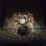 Jesus Surrounded by His Disciples in a Scene from Jesus Christ Superstar