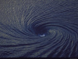 Whirlpool  a Fathom Across at Spinning Vortex  Caused by Converging Tides and Currents in Gulf