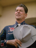 California Republican Gubernatorial Candidate Ronald Reagan  in Cowboy Attire While Campaigning