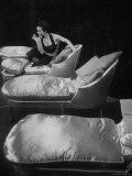 Eartha Kitt  Sitting on Chaise in Scene from New Faces