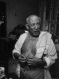 Informal Portrait of Artist Pablo Picasso at Notre Dame de Vie  His Home in Mougins