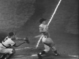 NY Yankees Right Fielder Roger Maris Hitting His 59th Home Run in Record Breaking Year