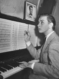 Boy Drummer and Composer Mel Torme  Playing the Piano