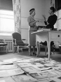 Editor Carmel Snow and Fashion Editor Diana Vreeland Reviewing Layouts in Harper's Bazaar Office