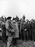 English PM Winston Churchill and British Army General Bernard Montgomery
